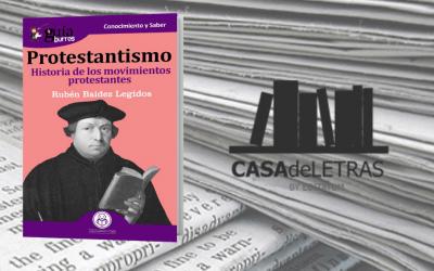 El «GuíaBurros: Protestantismo» en el medio Casa de Letras
